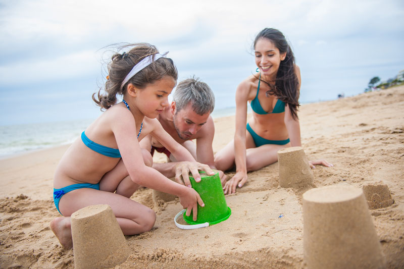 Family-on-the-beach-Galveston-summer-events